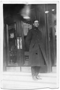 Jack Stickney in London, 1915.  Jack Stickney fonds, file 1-15, photo 28.