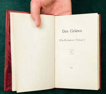 "Des Grieux : The Prelude to ""Teleny"""